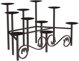 10 Candle Candelabra With Front Scroll in Brown by Lavish Home