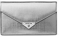 MICHAEL Michael Kors Women's Grace Metallic Leather Clutch