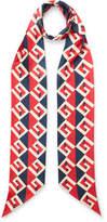 Gucci Printed Silk-twill Scarf - Red