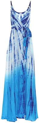Anna Kosturova Exclusive to Mytheresa Tie-dye silk maxi dress