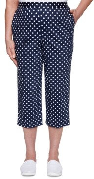 Alfred Dunner Ship Shape Dot-Print Pull-On Capri Pants