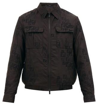 Fendi Ff-jacquard Organza Jacket - Black