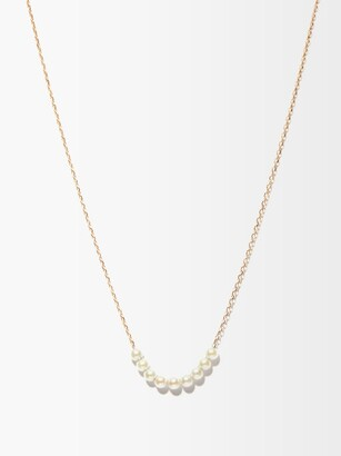 Mizuki Akoya Pearl & 14kt Gold Lariat Necklace - Pearl