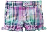 Osh Kosh Baby Girl Plaid Bubble Shorts