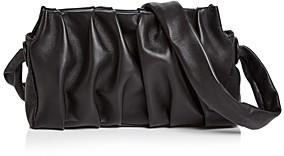 Elleme Vague Pleated Leather Clutch