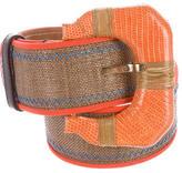 Oscar de la Renta Lizard-Trimmed Waist Belt