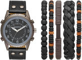 Arizona Mens Black 6-pc. Watch Boxed Set-Fmdarz545