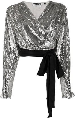 Rotate by Birger Christensen Samantha V-neck blouse