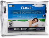 Claritin Ultimate Allergen Barrier White Down ClearLoftTM Cotton Back/Stomach Pillow in White