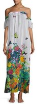 Milly Aruba Floral-Print Silk Maxi Coverup Dress