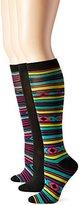 Steve Madden Women's Aztec Stripe Knee High Socks 3-Pack