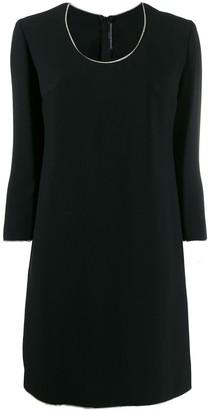 Ermanno Scervino rhinestone trim dress