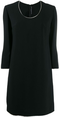 Ermanno Scervino Rhinestone Trim Dress