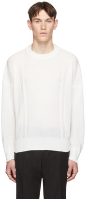 Our Legacy White Smooth Cable Sweater