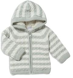 Angel Dear Unisex Sherpa Lined Knit Jacket - Baby