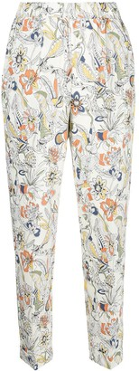 Ermanno Ermanno Floral-Print Slip-On Trousers