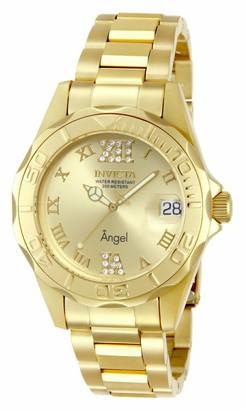 Invicta 14397 Angel Women's Wrist Watch Stainless Steel Quartz Gold Dial