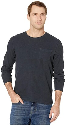 Lucky Brand French Rib Thermal Crew Top (Navy) Men's Clothing