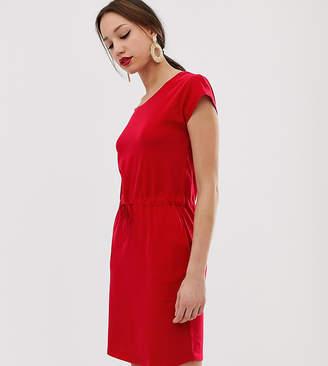 Vero Moda Tall jersey dress with tie waist-Red