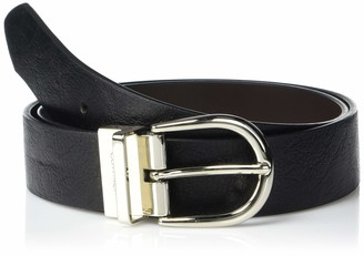 Calvin Klein Women's 35MM Flat Reversible Strap Belt
