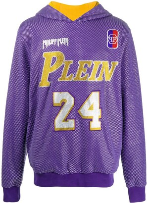 Philipp Plein Glass-Embellished Bball Hoodie