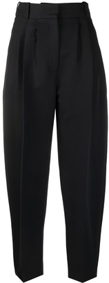 Alexander McQueen High-Waisted Cropped Harem Trousers
