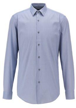 HUGO BOSS Slim Fit Shirt In A Structured Cotton Blend - Dark Blue