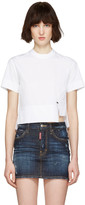 DSQUARED2 White Poplin Mini Blouse T-shirt