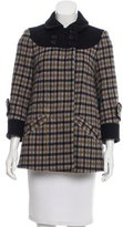 See by Chloe Plaid Short Coat