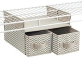 InterDesign Chevron Soft Closet Storage, Hanging 2 Drawer Organizer for Wire Shelving Systems, Taupe/Natural