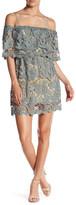 Romeo & Juliet Couture Lace Yoke Cold Shoulder Shift Dress