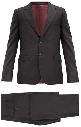 Gucci London Single-breasted Wool-blend Two-piece Suit - Mens - Black