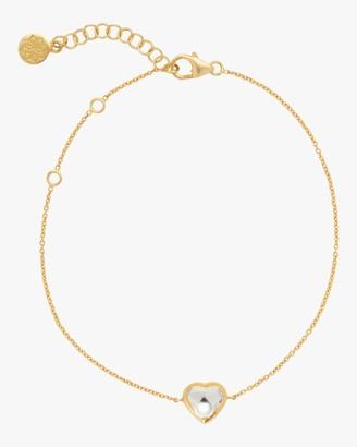 Amrapali Kundan Vintage Diamond Heart Fine Chain Bracelet
