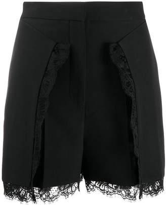 Alexander McQueen lace details shorts