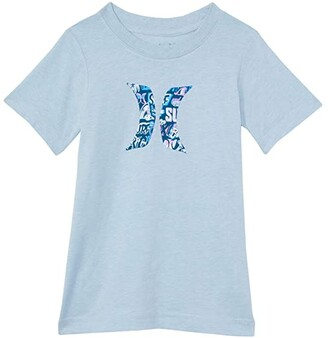 Hurley Icon Graphic T-Shirt (Little Kids) (Chambray Blue Heather) Boy's Clothing