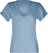 Vanessa Bruno Blueberry Cotton V-Neck T-Shirt