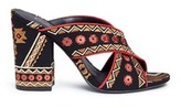 Ash 'Adel' ethnic embroidered mule sandals
