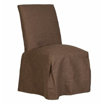 Rosalind Wheeler Jazlyn Upholstered Parsons Chair Upholstery Color: Brown