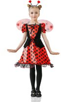 La Mascarade Girls' Red Ladybug Princess Fairy Love Bug Dress Up & Role Play Halloween Costume (4-7 years)