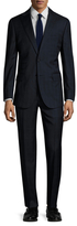 English Laundry Wool Gingham Plaid Notch Lapel Suit