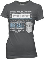 Doctor Who Wibbly Wobbly Quote Juniors Tee