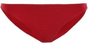 Jets Textured Low-rise Bikini Briefs
