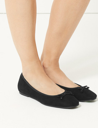 Marks and Spencer Wide Fit Square Toe Ballerina Pumps