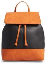 Sole Society Kaili Two Tone Backpack - Black