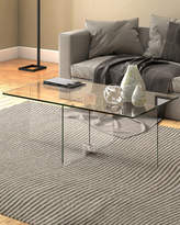 clear Gehry Coffee Table In Glass