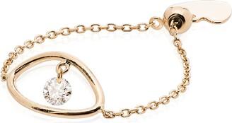 PERSÉE Eye 18kt yellow gold diamond chain ring