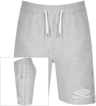 Pretty Green X Umbro Sweat Shorts Grey