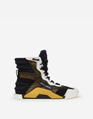 Dolce & Gabbana High Top Ns1 Sneakers In Mixed Materials