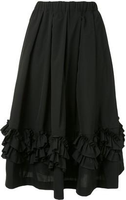 Comme des Garçons Comme des Garçons Ruffle Flared Midi Skirt