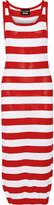 Moschino Striped Pointelle-knit Cotton Midi Dress - Red